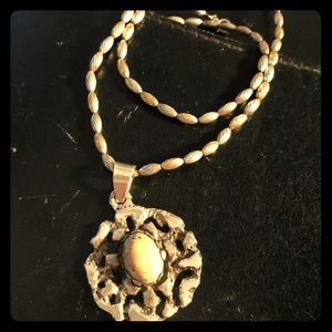 14 karat gold and sterling silver Necklace